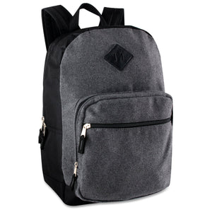 Wholesale 18 Inch Dark Wool Backpack - 12 Bags Per Case - Free Shipping