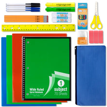 Wholesale 18 Piece School Supply Kit - 24 Kits Per Case - Free Shipping