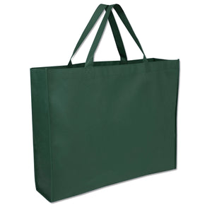 Wholesale 19 Inch Shopper Non Woven Tote Bag - Green - 100 Bags Per Case - Free Shipping