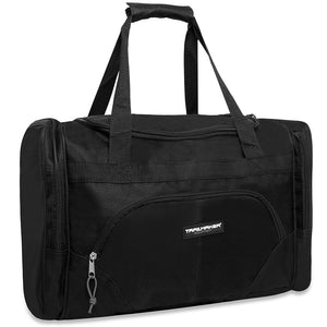 Wholesale 20 Inch Deluxe Duffel Duffle Bag - Black - 24 Bags Per Case - Free Shipping