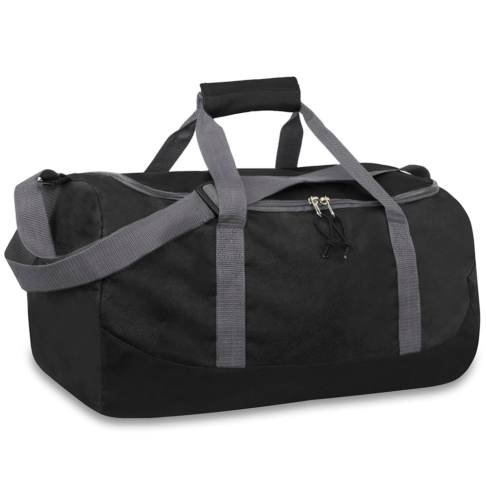 Wholesale 20 Inch Duffel Duffle Bag - Black - 24 Bags Per Case - Free Shipping