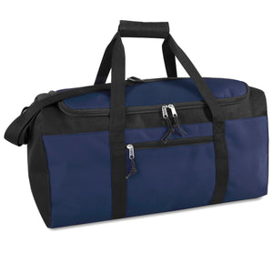 Wholesale 22 Inch Duffel Duffle Bag - Navy - 24 Bags Per Case - Free Shipping
