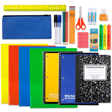 Wholesale 24 Piece School Supply Kit - 12 Kits Per Case - Free Shipping
