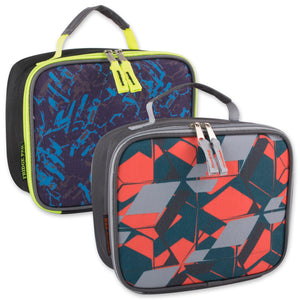Wholesale Boys Printed Lunch Bag - 24 Bags Per Case - Free Shipping