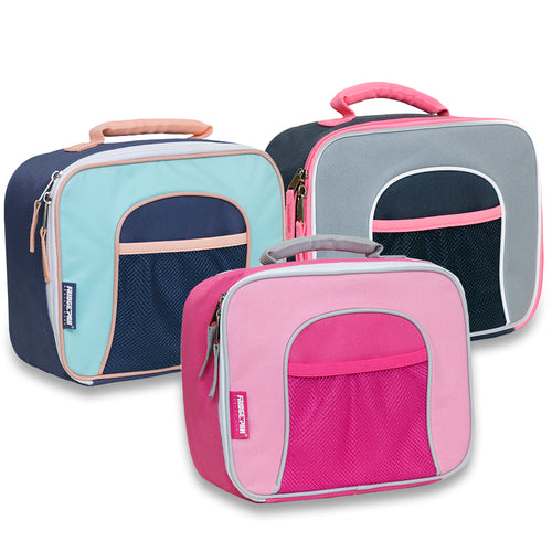 Wholesale Girls Mesh Front Lunch Bag - 3 Colors - 24 Bags Per Case - Free Shipping