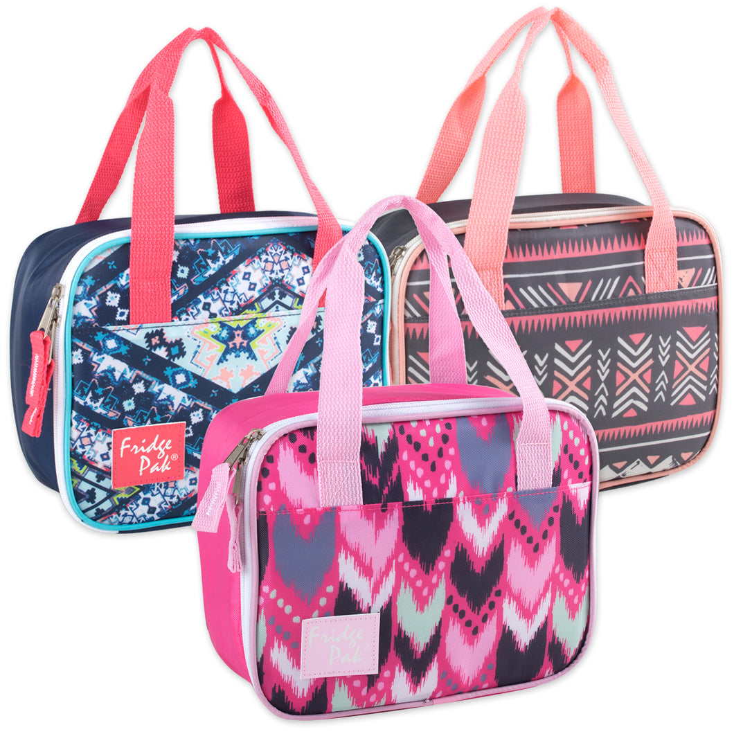 Wholesale Girls Printed Lunch Bag - 24 Bags Per Case - Free Shipping