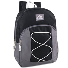 Wholesale Trailmaker 17 Inch Bungee Backpack - 5 Colors - 24 Bags Per Case - Free Shipping