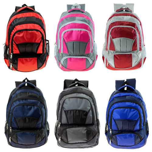 Wholesale 19 Inch Padded Backpack - 6 Colors - 24 Bags Per Case - Free Shipping