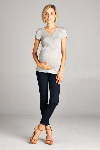 Cross-Front Maternity/Nursing Top