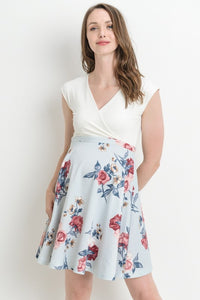 Empire Waist Floral Nursing Dress