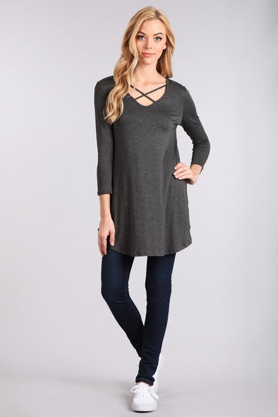 Knit 3/4 Sleeve Maternity Top