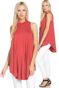 Scoop Hem Maternity Tunic