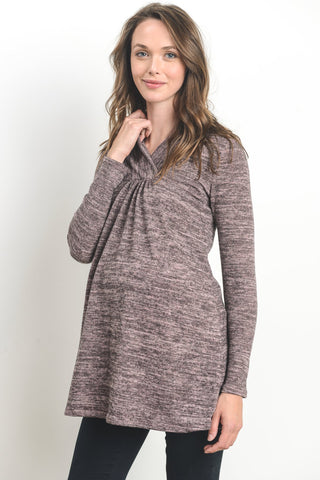 Shawl-Collared Maternity Sweater