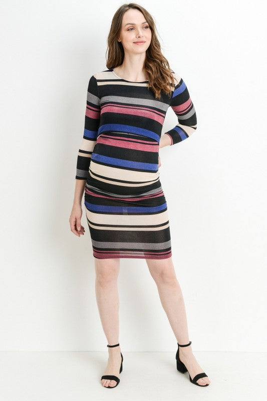 Striped Maternity/Nursing Dress