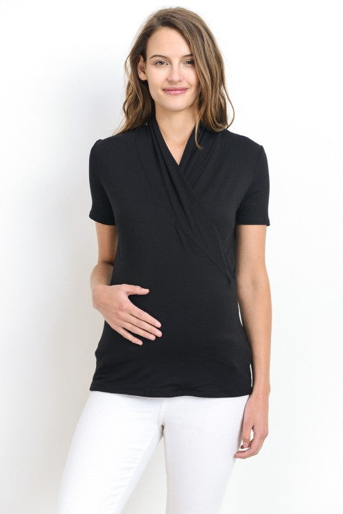 Solid Wrap Maternity/Nursing Top