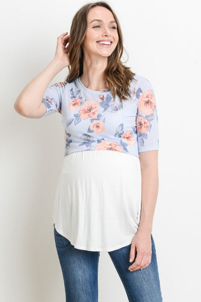 Floral Maternity & Nursing Tunic