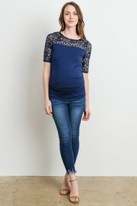 3/4 Sleeve Lace Maternity Top