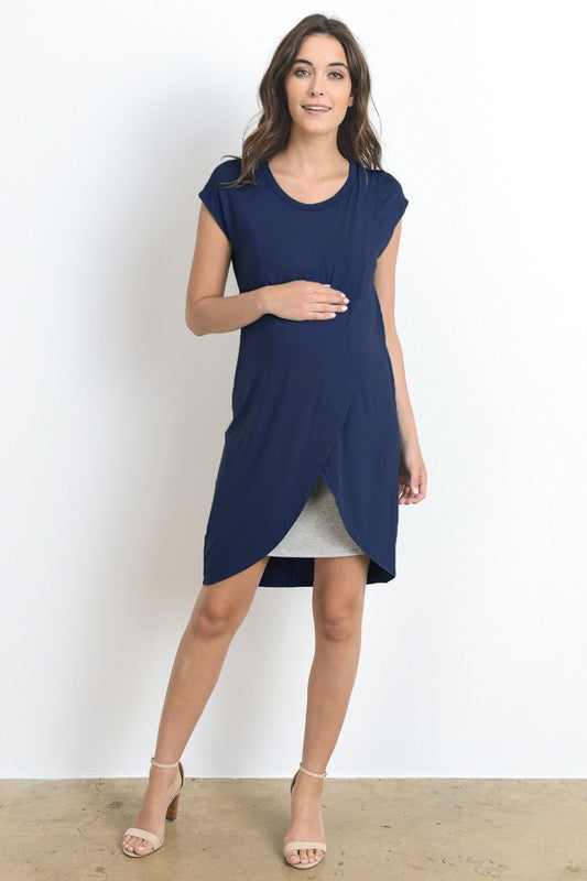 Layered Maternity/Nursing Dress