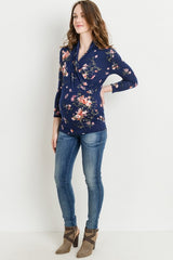 Long Sleeve Floral Nursing Top