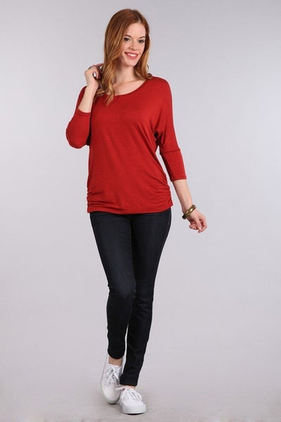 Dolman 3/4 Sleeve Maternity Top