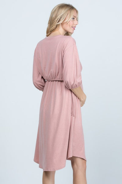 Balloon Sleeve Maternity/Nursing Dress