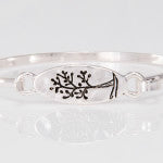 Oval Tree of Life Bangle Bracelets