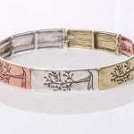 Narrow Tree of Life Stretch Bracelets