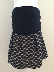 Black Circles Maternity Skirt