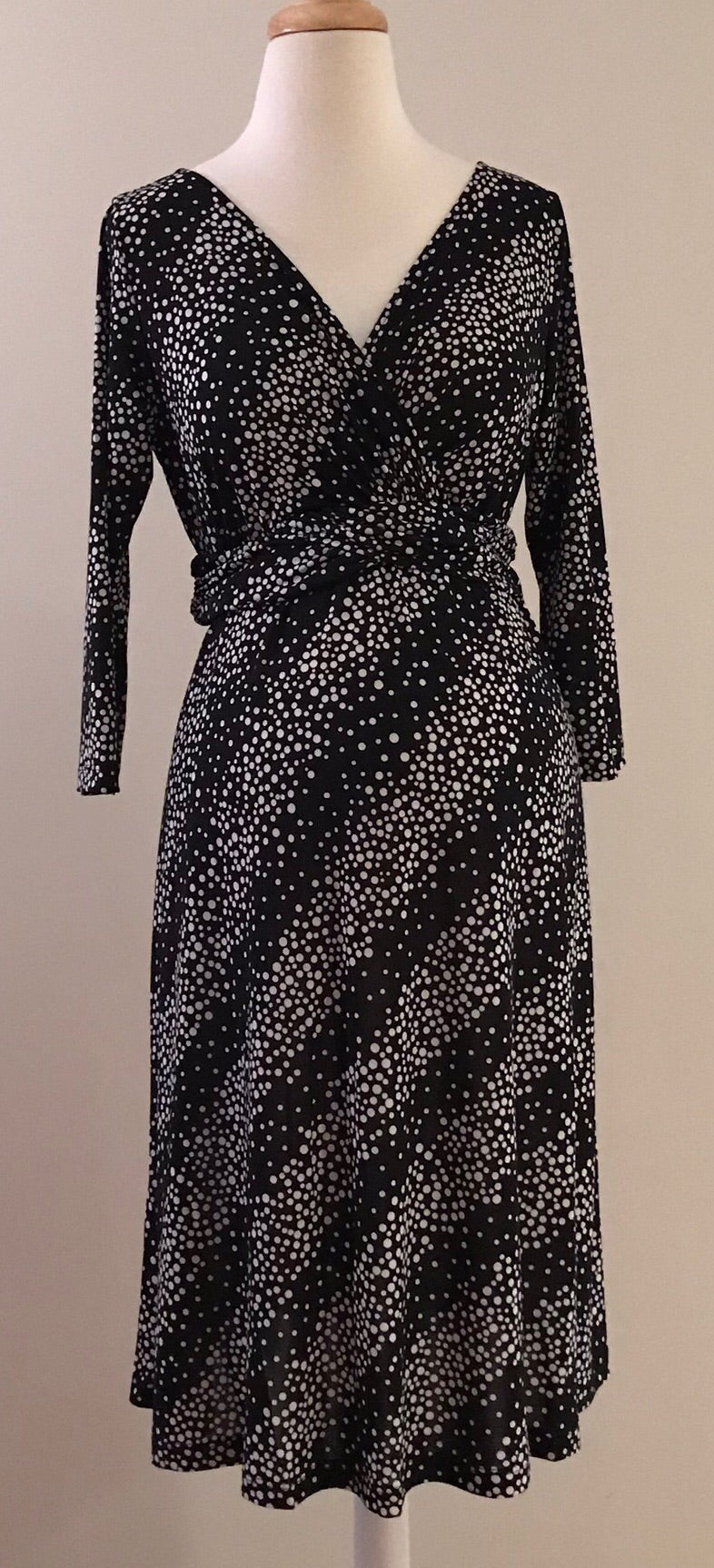 Long Sleeved Polka Dot Nursing Dress