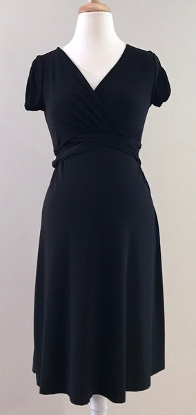 Deep V Maternity/Nursing Dress
