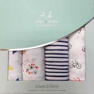 100% Cotton Classic Swaddle 4-Pack
