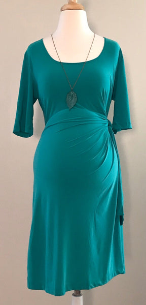 Adjustable Side-Tie Maternity Dress