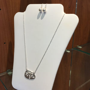 Cutout Tree of Life Necklace/Earring Sets