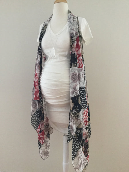Sleeveless Convertible Shawl - Patchwork