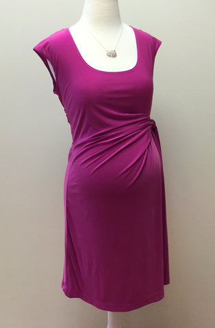 Sleeveless Side-Tie Maternity Dress