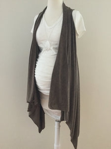 Sleeveless Solid Color Shawl