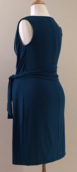 Drape Front Side-Tie Maternity/Nursing Dress