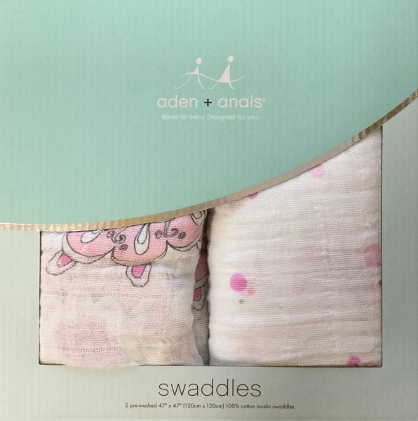 100% Cotton Classic Swaddle 2-Pack