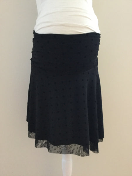 Lace & Polka Dot Maternity Skirt