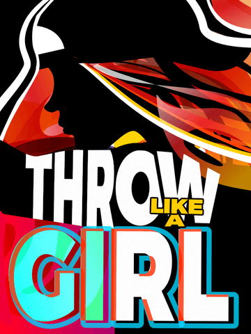 Wall Art Canvas Print: Throw Like A Girl