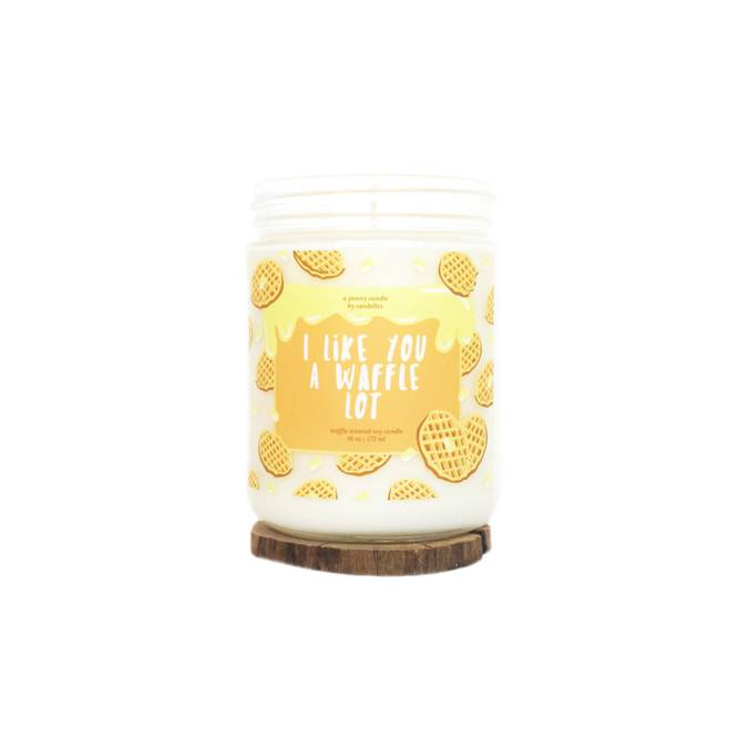 I LIKE YOU A WAFFLE LOT - SOY CANDLE - Erin Edit Shop