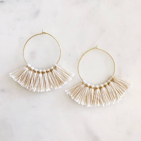 TASSEL HOOP EARRINGS - Erin Edit Shop