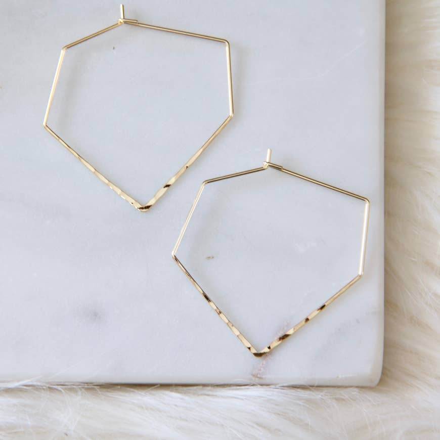 HAMMERED HOOP EARRINGS - Erin Edit Shop