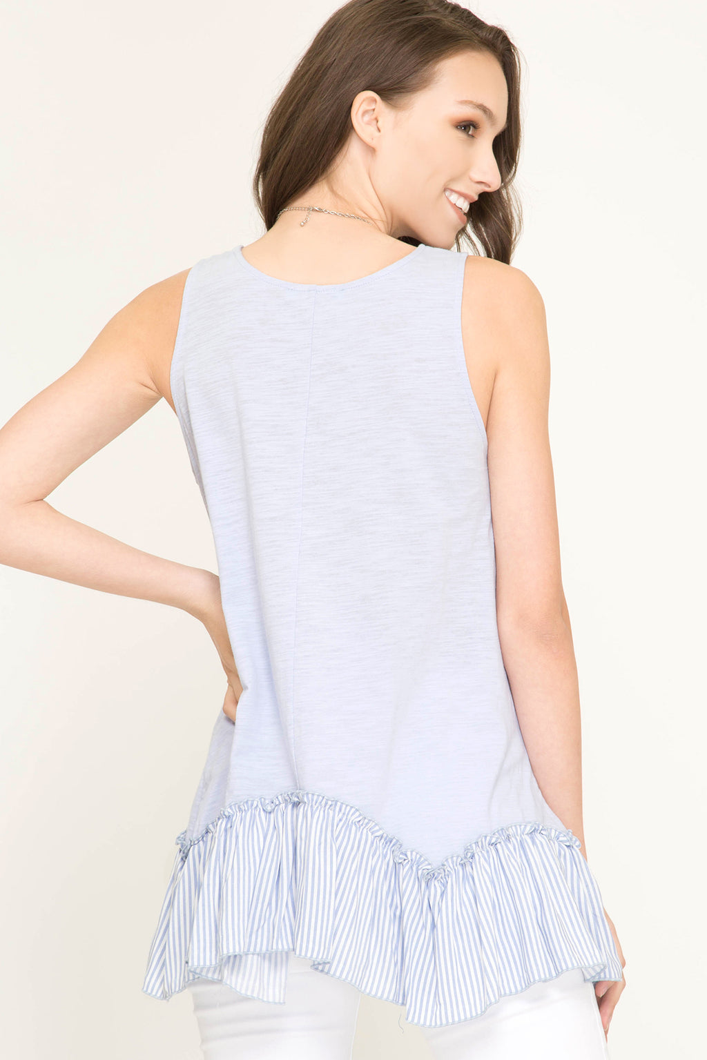 SLEEVELESS RUFFLE TOP - Erin Edit Shop
