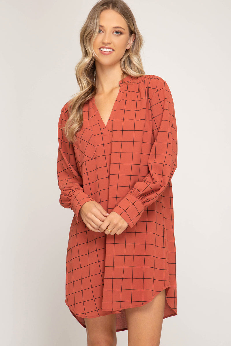 OFF THE GRID SHIRT DRESS - Erin Edit Shop