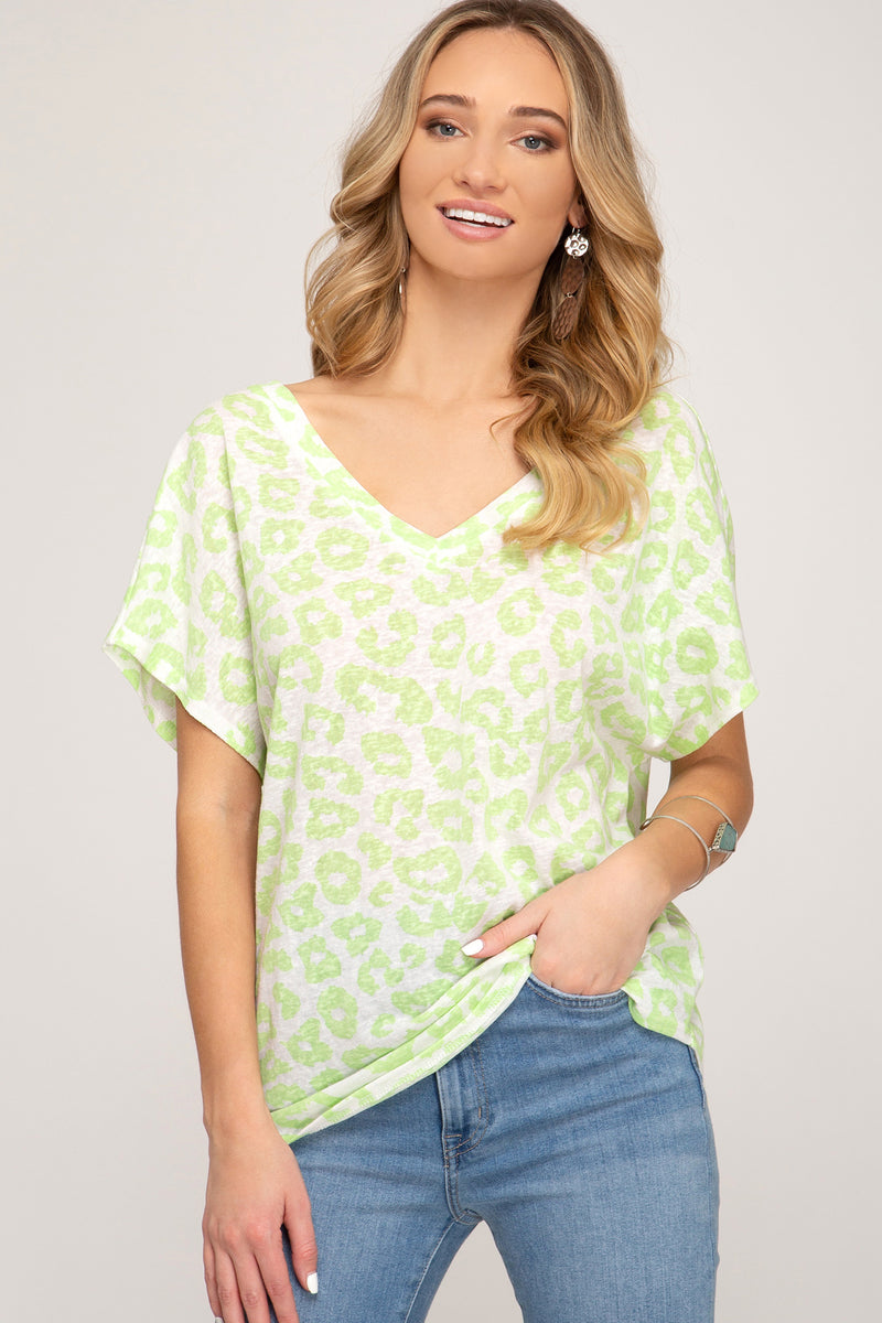 NEON LEOPARD PRINT T - Erin Edit Shop