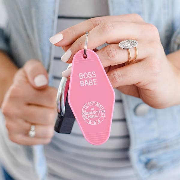 BOSS BABE KEYCHAIN - Erin Edit Shop