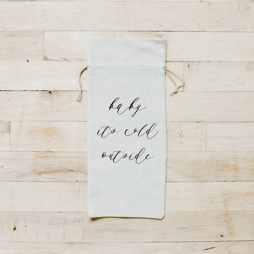 BABY IT'S COLD OUTSIDE WINE BAG - Erin Edit Shop