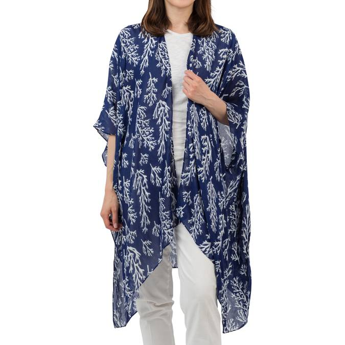 CATALINA KIMONO - NAVY REEF - Erin Edit Shop