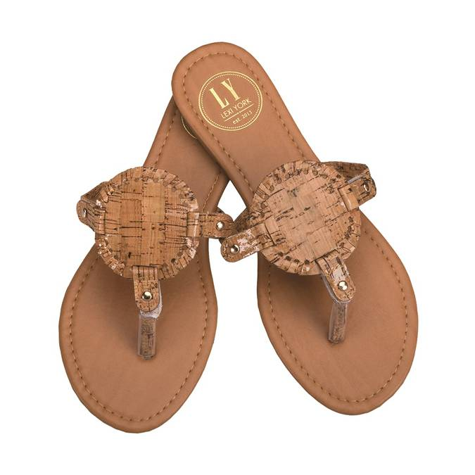 CORK DISK SANDALS - Erin Edit Shop